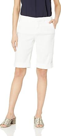 NYDJ Womens Bermuda Linen Short with ROLL Cuff, optic white 4