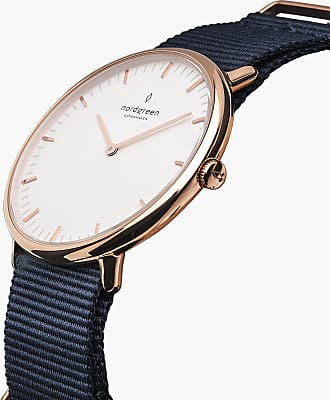 Nordgreen Native - Rose Gold | Navy Blue Nylon - 40mm / Rose Gold