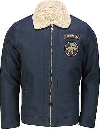 Generic Mens Winter Bomber Jacket Warm Fleece Fur Lining Smart Casual Retro Fashion Coat[T818A,M,Navy]