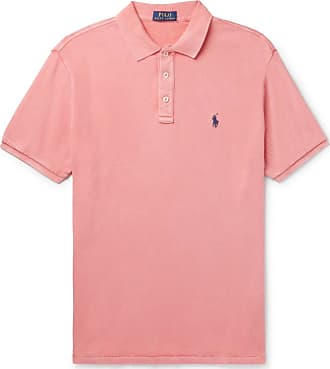 Polo Ralph Lauren Slim-fit Loopback Cotton-jersey Polo Shirt - Antique rose