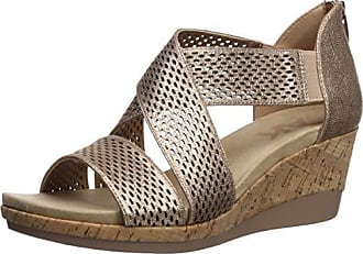 Anne Klein AK Sport Womens Pebbles Wedge Sandal, Bronze, 8.5 M US
