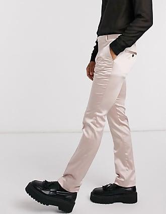 Twisted Tailor Pantaloni skinny stile smoking rosa cipria