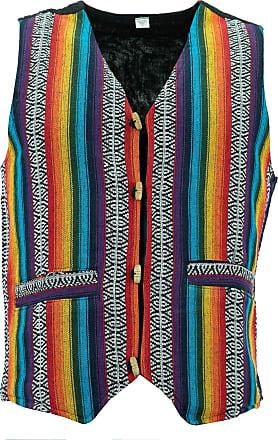 Loud Elephant Cotton Canvas Waistcoat - Rainbow (X-Large)