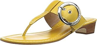Bernardo Womens Grace Wedge Sandal, Golden Yellow Antique Calf, 7M M US