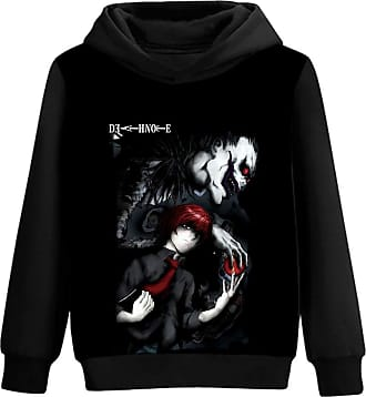 Haililais Death Note Pullover Patterned Printing Pure Cotton Comfortable Hooded Sweatshirt Spring and Autumn Pullover Unisex (Color : A02, Size : XL)
