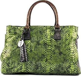 SURI FREY FANNY große Damentasche Shopper Metallic Schultertasch grün
