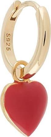 Wilhelmina Garcia heart hoop earrings - Dourado