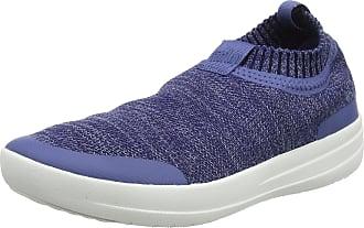 2ef5139b5 FitFlop Womens Uberknit Sneakers-Metallic Slip on Trainers