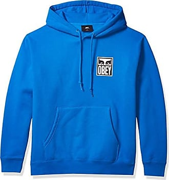 Obey Mens Split Eyes Hooded Fleece