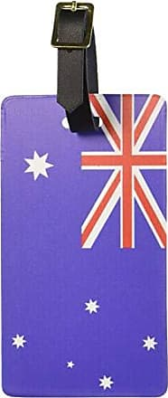 Graphics & More Graphics & More Australia Flag Luggage Tags Suitcase Carry-on Id, White