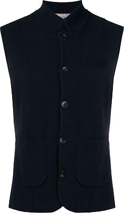 N.Peal fine knit waistcoat - Blue