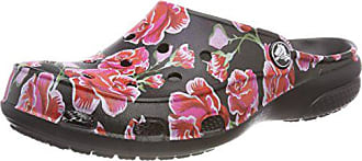 1d4be93b3151 Crocs Damen Freesail Graphic Women Clogs Mehrfarbig (Multi Rose Black) 38 39
