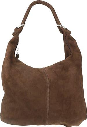 Girly HandBags Girly HandBags Hobo Italian Suede Leather Shoulder Bag (Coffee)