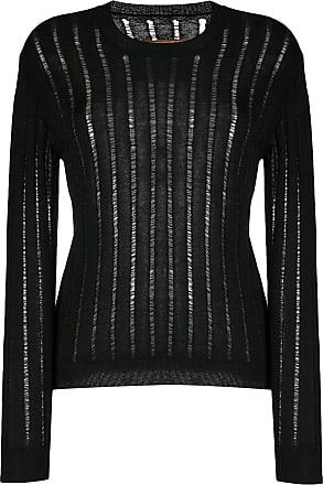 Uma Wang sheer ribbed-knit jumper - Black