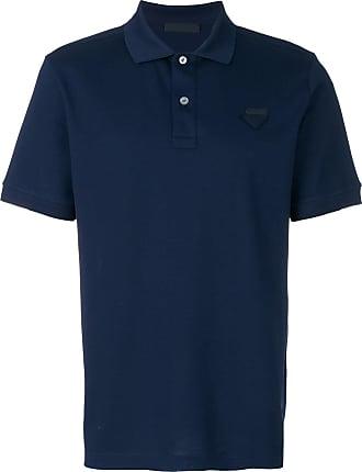 Prada Camisa polo com logo - Azul