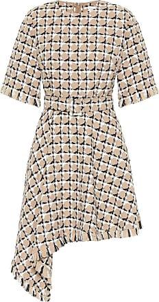 Oscar De La Renta Cotton and wool tweed minidress