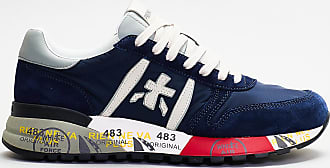 Premiata sneakers dettagli rossi e bianchi - blu