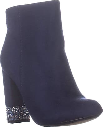 xoxo Womens Yardley Fabric Closed Toe Ankle Fashion Boots, Navy, Size 6.0 US / 4 US