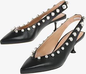 Sergio Rossi Slingbacks with Jewel Studs 4 cm Größe 38