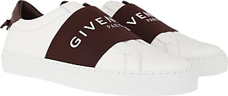 Givenchy Sneakers - Paris Webbing Sneaker Leather Aubergine - white - Sneakers for ladies