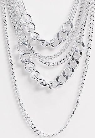 7X SVNX multi chain necklace-Silver