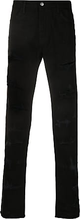 424 Calça jeans slim destroyed - Preto