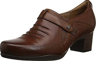 Clarks Womens Rosalyn Nicole Slip-On Loafer Dark Tan Leather 9.5 N US