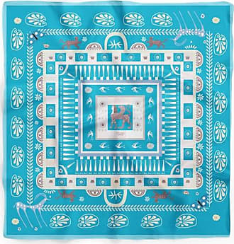 Cyclades Silk Scarves Midas in Turquoise(90 x 90 cm)