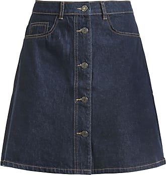 da7e067225b8bb Noisy May Sunny Shortdenim Skater Skirt - Medium-lengte rok - donkerblauw
