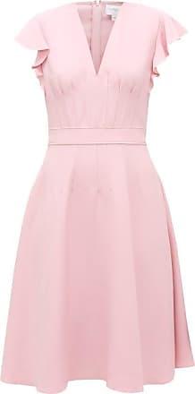 Giambattista Valli Flounced-sleeve Flared Crépe Midi Dress - Womens - Light Pink