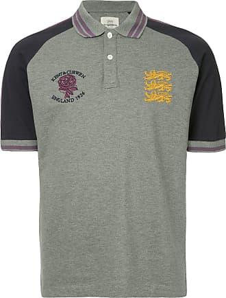 Kent & Curwen embroidered logo polo shirt - Grey
