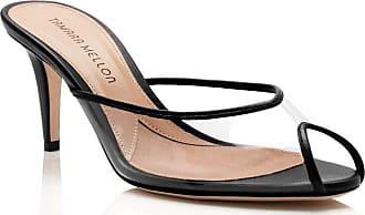 Tamara Mellon Glass Black Nappa Sandals, Size - 35.5