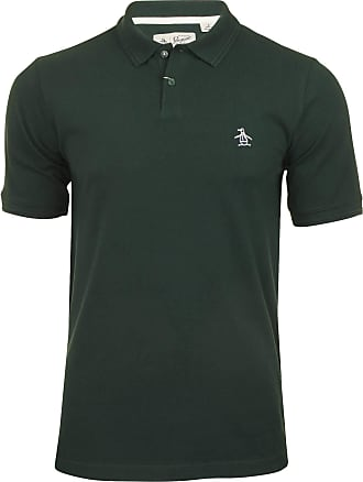 Original Penguin Sticker Pete Polo Shirt in Darkest Spruce XXL