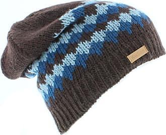 KuSan Mens 100% Wool Floppy Beanie hat (KU1111) (Brown)