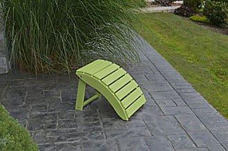 A & L Furniture A & L Furniture Poly Folding Ottoman, Lime