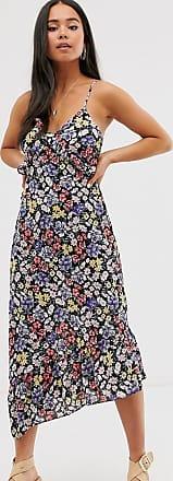 Miss Selfridge floral midi dress-Black
