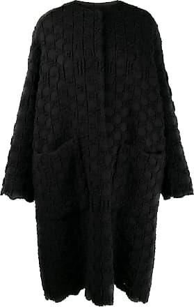 Uma Wang textured knit cocoon coat - Black