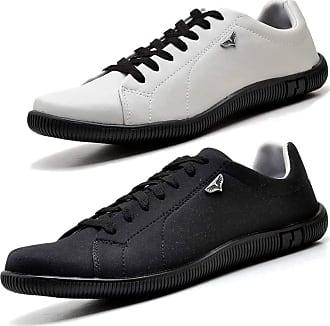 Juilli Kit 02 Pares de Sapatênis Sapato Casual Com Cadarço Masculino JUILLI 920DB Tamanho:44;cor:Preto;gênero:Masculino