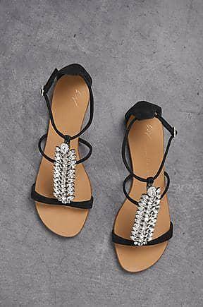 5d4e4c5fc2d04 Giuseppe Zanotti Giuseppe Zanotti Woman Crystal-embellished Suede Sandals  Black Size 36