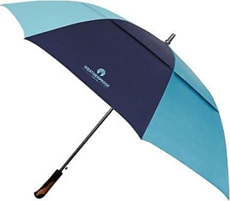 Weatherproof 67 Inch Auto Open Golf Umbrella with Vented Canopy, Blue Combo, One Size