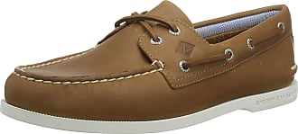 Sperry Top-Sider Sperry Mens A/O 2-Eye PLUSHWAVE Boat Shoe, Tan, 11 UK