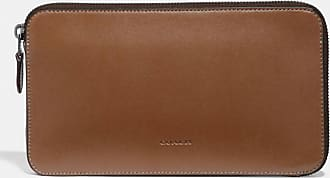 Coach Travel Guide Pouch in Brown