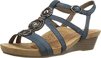 Rockport Womens Hannah-CH Sandal, Blue Nubuck, 5.5 M US