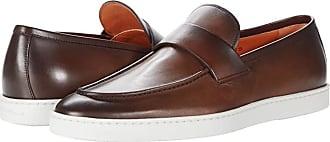 santoni slip on shoes