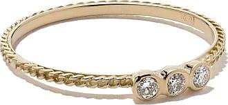 Wouters & Hendrix 18kt yellow gold Chain Diamond ring