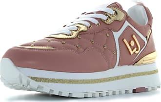Liu Jo Shoes Woman Low Sneakers BXX051 EX014 01597 Maxi Alexa Running Size 39 Pink