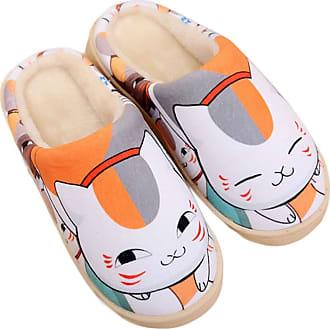 Cosstars Natsume Yuujinchou Anime Anti-slip Home Slippers Cute Plush Warm Indoor Shoes