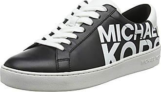 Michael Kors Irving Lace Up, Baskets Femme, Multicolore (Blk Opticwht 012) ad4ae482c21