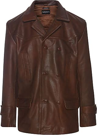 Infinity Mens 3/4 Double Breasted Real Leather Dr Who Kreigsmarine Uboat Jacket