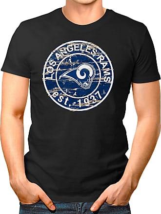 OM3 Los Angeles-Badge - T-Shirt | Mens | American Football Shirt | 3XL, Black
